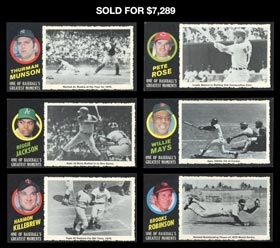 1971 Topps Greatest Moments Complete Set of (55/55) Cards