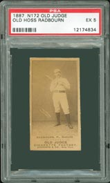 N172 Old Judge Old Hoss Radbourn PSA EX 5