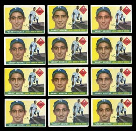 (12) 1955 Topps Sandy Koufax Rookie Cards