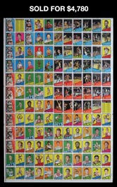 1972-73 Topps Basketball Uncut Sheet with Dr. J. Rookie