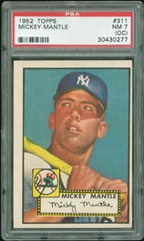 1952 Topps Mickey Mantle Rookie #311 PSA NM 7 (oc)