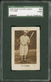 1928 Star Player Candy Ty Cobb with Buck Barker Stamp