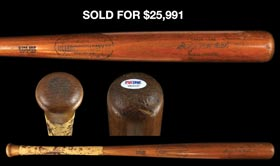 "Rare George ""Babe"" Ruth 1922-1925 H&B ""Kork Grip"" Pro Model/Pro Stock Model Bat"