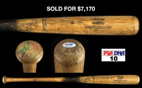 1969-72 Ron Santo Game-Used Professional Model Bat - PSA/DNA 10