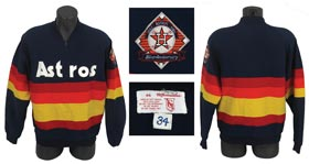 1986 Nolan Ryan Game Worn Houston Astros Warm Up Jacket with UDA Letter