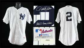Derek Jeter Game Used Signed New York Yankees 2003 Baseball Jersey