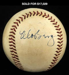 Incredible Moe Berg Single Signed Ball - One of Only Two Known!