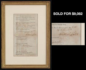 1783 George Washington Revolutionary War-Era Signed Discharge Certificate