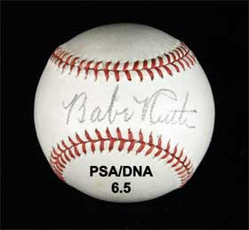 Babe Ruth Single Signed Autographed Ford Frick Baseball PSA/DNA 6.5