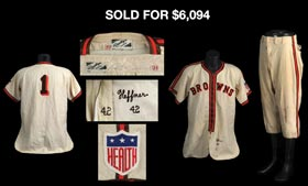 1942 Don Heffner St. Louis Browns Game-Used Jersey