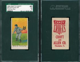 E92 Croft Candy Rare RED BACK Dots Miller SGC 40 VG 3