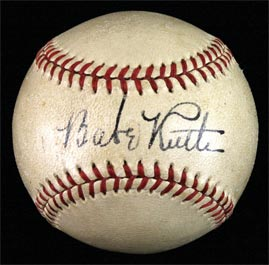Babe Ruth Single Signed Baseball - Beautiful
