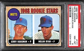1968 Topps Baseball #177 Nolan Ryan Rookie PSA NM-MT 8