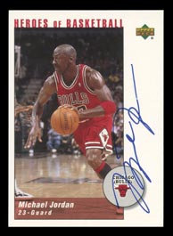 2002 Upper Deck Heroes of Basketball Michael Jordan #1/1 Certified Autograph