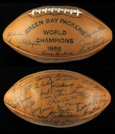 Beautiful 1966 Green Bay Packers Team Signed Championship Ball with (51) Signatures including Lombardi & Starr