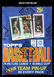 1980-81 Topps Basketball 36ct Unopened Wax Box - BBCE Wrapped