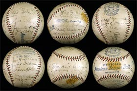 Philadelphia Athletics 1927 Team Signed Autographed Baseball with Cobb, Foxx, Mack, Collins, Wheat, Cochrane, Grove
