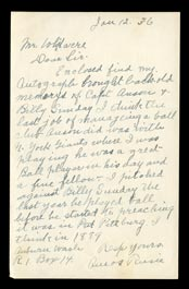 Ultra-Rare Amos Rusie 1936 Handwritten Signed One-Page Letter with Incredible Baseball Content - Only Known Example!