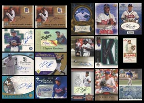 Modern Baseball Certified Autographs (696) with Many Hall of Famers & Stars