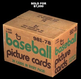 Incredible 1978 Topps Baseball Factory Sealed Rack Case
