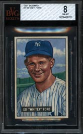 1951 Bowman Baseball #1 Whitey Ford Rookie BVG 8 NM-MT--None Better!