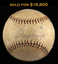 Lou Gehrig Single-Signed Autographed Baseball - Sweet Spot Signature--Full JSA