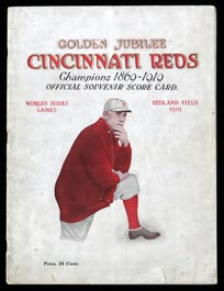 1919 World Series Program Cincinnati Reds Version with Black Sox Team Photo