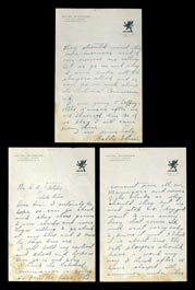 Circa 1910 Walter Johnson Handwritten & Signed Autograph Three-Page Letter - Full JSA