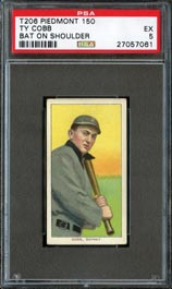 1909-11 T206 White Borders Ty Cobb (Bat On Shoulder) PSA EX 5