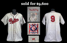 1939 Hugh Mulcahy Philadelphia Phillies Game Worn Road Jersey