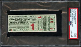 Rare and Exceptional 1915 World Series Game 1 Full Ticket (Babe Ruth's 1st World Series Game) - PSA Good 2