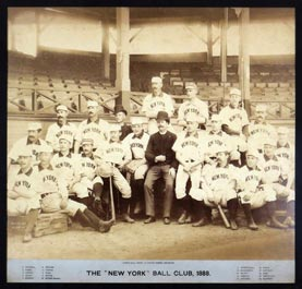 Landmark 1888 New York Giants Joseph Hall IMPERIAL Cabinet Photo - The Absolute Finest of Three Known Examples