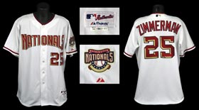 Inaugural Year 2005 Ryan Zimmerman Game-Used Washington Nationals Home Jersey - Near Impossible #25 with Phil Wood LOA