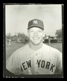 Circa 1956 Mickey Mantle Type I Contact Proof Original Photo by Jacobellis - Used for 1956 Topps Card