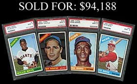 1966 Topps Baseball PSA Registry #5 Complete Set Break