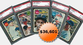 1968 Topps Baseball 3D Test Issue Collection with Roberto Clemente All PSA Graded