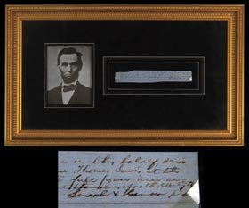 Circa 1845-1849 Abraham Lincoln Signed Legal Brief in Framed Display—Full JSA