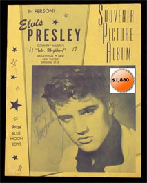 Elvis Presley Signed Autographed 1956 Tour Program