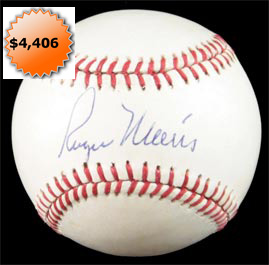 Roger Maris Single Signed Autographed Baseball
