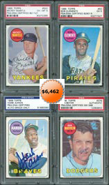 1969 Topps Baseball Card Autographed Set Near Complete