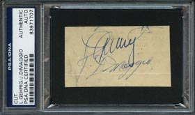 Lou Gehrig & Joe DiMaggio Signed Cut - PSA/DNA Authentic & Full JSA