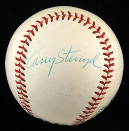 Stunning Casey Stengel Single-Signed 1970-1973 ONL Feeney Baseball - Full JSA