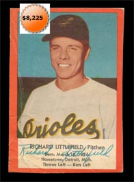 1954 Esskay Hot Dogs Baseball card Dick Littlefield