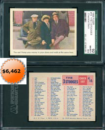 1959 Fleer The Three Stooges #16 Checklist Back SGC 92