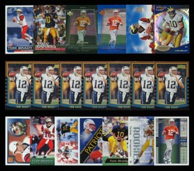 Massive 2000 Tom Brady Rookie Card Collection of (154) Cards