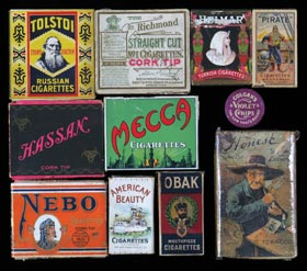 1880s-1910s Cigarette & Tobacco Box/Pack lot of (21)--A Spectacular Collection
