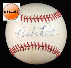 Babe Ruth Single Signed Autographed Baseball