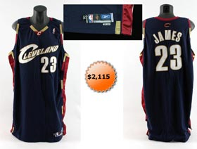 LeBron James Game Used Basketball Jersey 2005-2006
