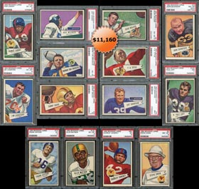 1952 Bowman Large Football Complete PSA Graded Set (144/144) - #11 on Registry