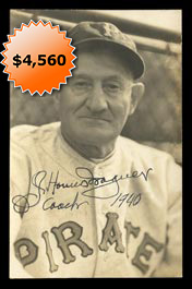 Tremendous Honus Wagner 1940 Signed Type I Original Photo by George Burke - Full JSA LOA